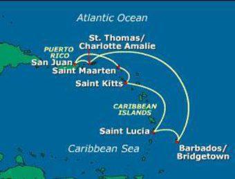 Южнокарибски круиз с виза за САЩ