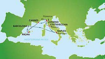 Круиз: Западно Средиземноморие от Рим (стар)
