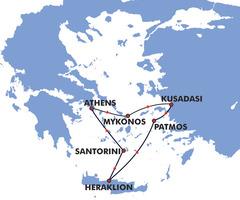 4 гръцки острова и Турция: от Атина